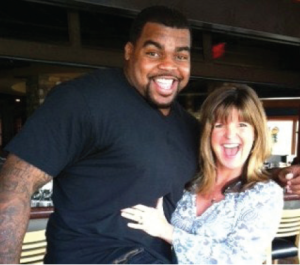 Celio Jones now of the Arizona Cardinals and Deb Scheckel