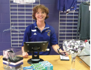 Lori Pelton in the Eagle's Spirit store.