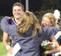 Kari Feddema and Kyle Santman are homecoming king and queen.