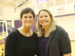 Head Coach Erin Onken and Assistant Coach Amie Goldschmeding.