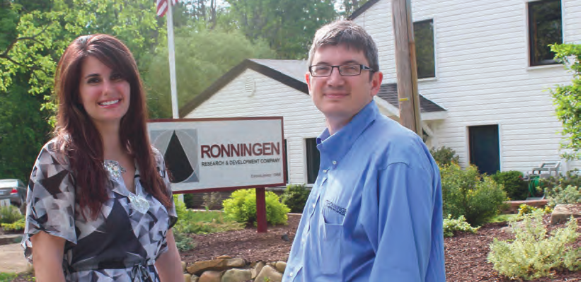 Megan Beaudoin and Eric Swanson, employees of Ronningen.