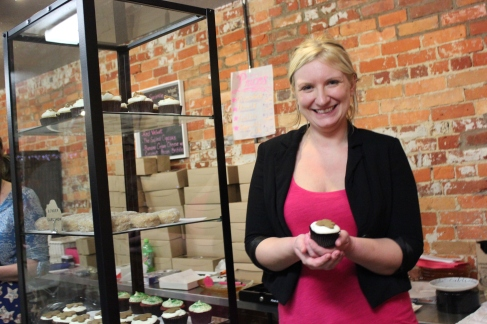 Korina Thompson, owner and baker of the Salted Cupcake shop.