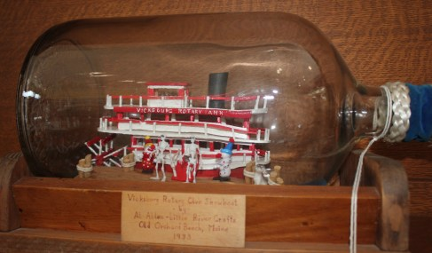 This Showboat in a bottle was constructed by Al Allen in the 60s.