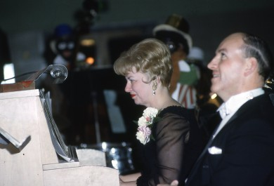 June Morley, pianist and Lyle Bartlett, music director, combined their musical talents in the early shows.