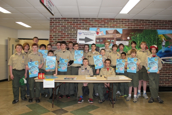 Vicksburg Boy Scouts Troop 251 sell tickets for spaghetti dinner and Showboat combo ticket.