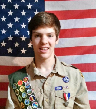 Eagle Scout Danny Gettle.