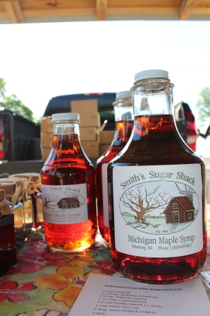 Bob Smith's maple syrup which he sells at the Vicksburg Farmers' Market from May through October and from his home on V Avenue in Vicksburg.