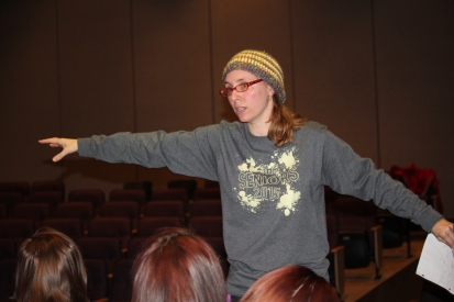 Christine Sargeant, director of the Schoolcraft High School musical presentation of Into the Woods.