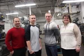 Team Denso – Left to right: Mike Jensenius, Andrew (Drew) Hamilton, Caleb Kropp, Deb Kolberg.