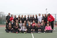 Girls Tennis Front row left to right: Amanda Walther, Allyson Hassenger, Madison Bierema, Meara Bernheisel, Meredith Moore, Sadie Peterson, and Jaden Hoyt. Middle row left to right: Bea Smetana, Kaylynn Ruger, Shenira Fuller, Emily Crawford, Mattison Bell, Kayla Eklund, Mekenna Leach, Jackie Kelly, and Sophia Breitenbach. Standing left to right: Coach Eric Flickinger, Ashley Taylor, Carly Lambdin, Amanda Swope, Brooke Bittenbender, Mikayla Shaw, Megan Wolf, Clarissa Mutch, Katie Reed, Karissa Wilson, Riley Robertson-DeGraaff, Calista Kaufman, Amber Ziegler, and Coach Warner Offord. Missing from the photo: Anna Costanzo, Marissa Ervin, Paige Harrison, Josephine Hosner, Maddie Pahl, Cece Roehm, and Cassidy Zinsmaster.