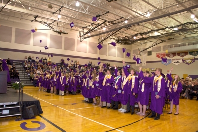 Schoolcraft graduation ceremonies awarded diplomas to 89 seniors, 72 of whom plan on attending college in the fall. There were 13 who achieved valedictorian status with a 4.0 or better with Matthew Peter chosen to be the valedictorian speaker. Christine Sargeant, the online learning mentor and drama coach, was chosen to give the commencement address.
