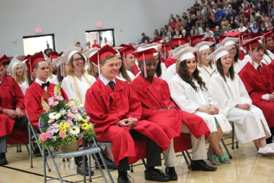 Vicksburg graduated 178 students in the class of 2015. The ceremony was moved indoors, due to the cold and potential rain.