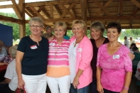 Members of the 1994 Vicksburg High School graduating class were glad to renew their friendship at the 2014 breakfast at the pavilion. They are from left to right: Mary Fry Curtis; Diane Clark Barker, Barb Grimm Brown, Evelyn Hines Briggs, and Myrna Grace Schwartz.