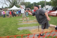 The horseshoe pitching contest gets intense as it winds down to the finals each year. The champions have bragging rights at the Hide-a-Way for a whole year.