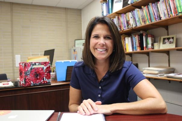 Amie McCaw, new principal at Sunset Lake.