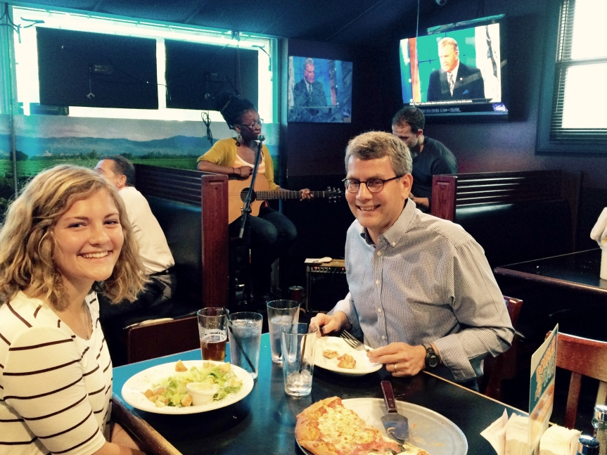 Clara Schriemer and her dad, Dr. David Schriemer, dined at Erbelli's when the South County News reporter was reviewing the restaurant.