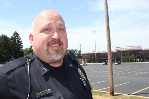 Mark Petersen, Vicksburg's school resource officer.