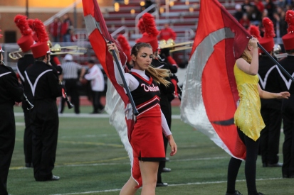 044691171e Taylor Grigg of the Big Red Machine s award winning Color Guard in action.