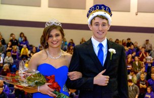 Schoolcraft's Queen and King: Alyssa Proper and Reese Schoenwether.