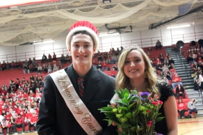 Vicksburg's King and Queen: Nicks Towns and Ashley Taylor.