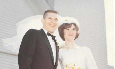 David and Carol Cross on their wedding day.