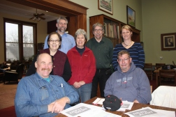 Vicksburg's Farmers' Market Board of Directors includes from left Kurt Wiley and Bob Smith seated. Standing from left to right: Stella Shearer, president; Rob Peterson; Kay Anderson, secretary; Brett Green; Kim Klein, treasurer.