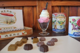 She has made replicas of sweets that were sold in confection stores, to display in the Doris-Lee building adjacent to the general store