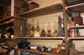 The building contains the many items that have been in storage for years that Maggie Snyder has been collecting to fill out this showplace of goods offered for sale in the early 20th Century.