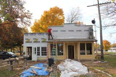 "Construction on the general store and Doris-Lee Sweet Shop began two years ago with the ""Thursday Guys"" doing all the work."