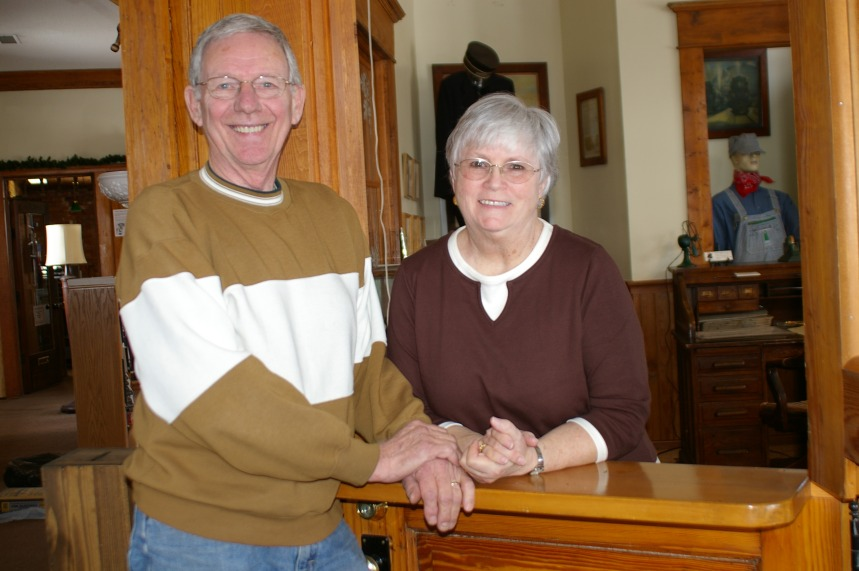 Ken and Lee Evensen who have worked as carpenter and office manager respectively will be honored on the occasion of their retirement from the Historical Society.
