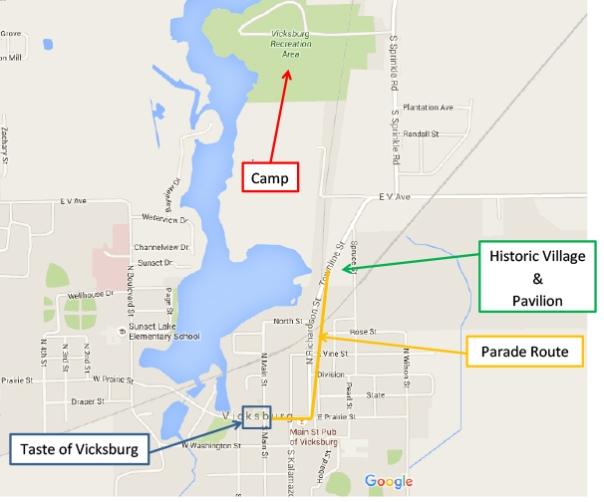 RW Vicksburg Map parade