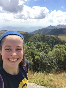 Abby Chapin looks over the landscape on one of her group's side trips while in Malawi.
