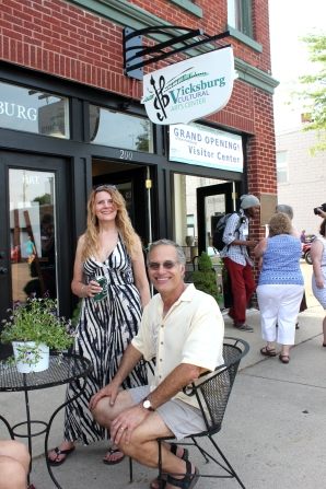 George Middleton and Judy Willy were guests at the grand opening of the Visitor Center in the Cultural Arts Center in June.