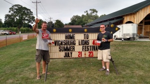 The cornhole winners were Bill Rager and Steve Heath. They repeated as champions in the Friday night tournament. There were 92 players competing. Winners in both events get trophies, names on the plaques and bragging rights which are good through next July.