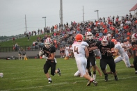 Caleb Kropp with the ball.