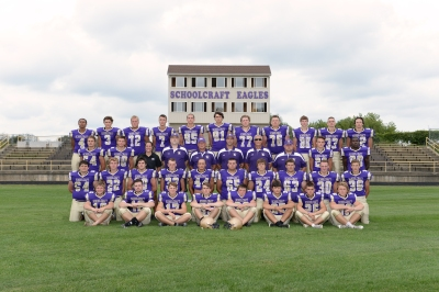 Varsity Football Front row left to right: Spencer Fox, Payton Hoskins, Darren Kehoe, Nick Dage, Coleton Briggs, Jack Hunt, Kameron Snyder, Travis Mikel. Second row left to right: Vince Morris, Riley Piper, Scott Macfarlane, Garrett Davis, Caleb Anspaugh, Harrison Fowler, Reilly Puhalski, Spencer White, Aaron Lenning, AJ Arney. Third row left to right: Thomas Meadows, Ben Crofoot, Trainer Lauren Flood, Coach Sharkey, Coach Haas, Coach Phelps, Coach Manning, Coach Branch, Dylan Straley, Jakob Huysken. Fourth row left to right: Ricky Clark, Justin VanDyken, Aaron McMillan, Nolan Anspaugh, Britton Bidigare, Blake Bales, Collin Tone, Marc Shaink, Mark Phelps.