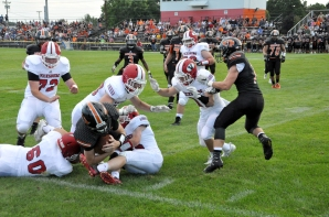 The defense kept Dowagiac on its heels in the second half of Thursday's game. Both photos by Travis Smola.
