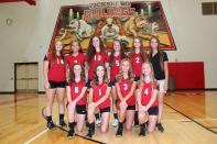 Freshman Volleyball Front row left to right: Megan Bresnahan, Tailynn Knapp, Kelcey Cook, Leah Johnson. Back row left to right: Victoria Kellogg, Sarah Sutter, Sky Trimble, Allyson Hanna, Riley-Ann Bierema, Coach Amanda Croft.