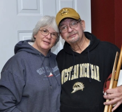 Kathy and Bob Smith, long-time WMU football season ticket holders from Vicksburg. Photos by Kim Marsden.