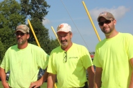 Chad Schippers, Randy Schippers and Jeff Pera in warmer weather.