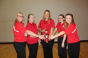 Girls Bowling Left to right: Samantha Cox, Maryssa Wright, Kylie Kalleward, Natasha Elliott, Malaynah Leach.