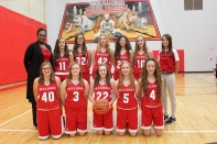 Girls Freshman Basketball Kneeling, left to right: Kaitlynn Szydlowski, Alivia Gray, Megan Bresnahan, Sydney Finos, Angel Currie. Standing, left to right: Coach Shikoko Cantrell, Ally Barga, Madison Aguillon, Mikayla Sands, Kinsay Riddle, Sarah Mitchell, Natalie Arndt, manager.