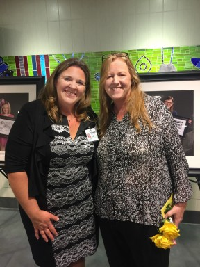 Rita Ritzema, the organizer of the photo exhibit at Bronson Hospital's Neonatal Intensive Care Unit is seen at left with her friend and volunteer photographer Linda Hoard of Brio Life Photography in Vicksburg.