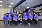 Boys Bowling Kneeling, left to right: Devin Matheny, Noland Ballard, Roberto Gamez, Nick Hayward, Jack Waldron, Sean Endres, Jesse Timmerman. Standing, left to right: Austin Edwards, Zach Orfin, Coach Mark Blentlinger, Coach Ally West, Coach Eric West, Jon Eaton, Dustin McAllister. Not pictured: Blake Bales.