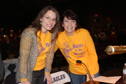 Faye VanRavenswaay, Schoolcraft library director, and Jennie Taylor, Vicksburg third grade teacher, took over leadership of the Battle of the Books in 2016.