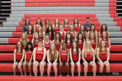 Girls Track Front row left to right: Nalani Rawson, Trinity Purdiman, Paris Price, Michelle Smith, Jayla Lockhart, Riley-Ann Bierema, Mia Mulhearn, Kayla Kiline. Second row left to right: Stacy Fogleson, Kasmyn VanMaanen, Natalie Walraven, Claudia Esclansana Ruiz, Kinsay Riddle, Angie Loriso, Skylar Rogenski, Savannah McDowell. Third row left to right: Tori Smith, Layna Steele, Alyssa Thompson, Anna Schriemer, Anessa Laske, Maddie Johnson, Anna Freund, Anna Knowles. Fourth row left to right: Coach Jessie DeKoning, Micayla Bozeman, Kendal Hall, Grace Welch, Hannah Flickinger, Olivia Lewis, Coach Lucas Wolthuis.