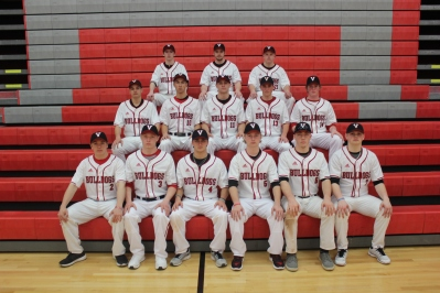 Varsity Baseball Front row left to right: Adam Henderson, Garrett Ketelaar, Ryan Morgan, Drew Hamilton, Matthew Holman, Joshua Povlock. Second row left to right: Caleb Conklin, Hunter Myers, Brenden Lovell, Trevor Pryson, Cole Mallery. Third row left to right: Austin Bresnahan, Caleb Gay, Nick Swope. Missing from the photo: Ryan Verner.