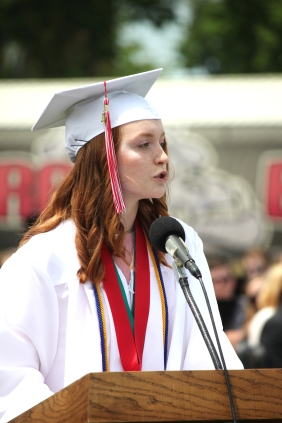 Salutatorian Savannah McDowell.