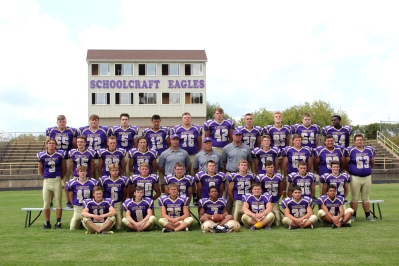 Varsity Football Front row left to right: Wyatt Adams, Taylor Meyer, Josh Wujkowski, Zack Stokes, Sam Reisner, Riley Watts, Coby Clark. Second row left to right: Jakob Sagers, Carter Hammer, Travis Mikel, Bryce Walther, Brady Flynn, Riley Piper, Jack Hunt, Nic Dage, Aaron Ebersberger. Third row left to right: Reilly Puhalski, Dillon Straley, Garrett Davis, Mark Phelps, Coach Kurt Phelps, Coach Terry Haas, Coach Cory DeGroote, Chandler Guiter, Ian Cail, Harry Fowler, Spencer White. Fourth row left to right: River Fox, Collin Blalock, Ethan McIntyre, Trent Lomason, Mark Shaink, Chris Cooper, Mark Melching, Trevor DeGroote, Chandler Miller, Jacob Huysken.