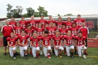 JV Football Kneeling left to right: Jacob Baird, Jared Gorsline, Zach Wesseling, Kamron Bragg, Florian Heller, Carter Root, Chase Myers. Second row left to right: Coach Tim Kirby, Lucas Hatridge, Brian Roberts, Elijah Kube, Drew First, Tanner Groves, Will Thomas, Head Coach Cody Caswell. Third row left to right: Logan Deluca, David Benedict, Tim Axtell, Ty Shelton, Collin Bellaire, Justin Reed, Carter Coffinger, Brandin Yant. Not pictured: Cole Straka, Kevin Munn.